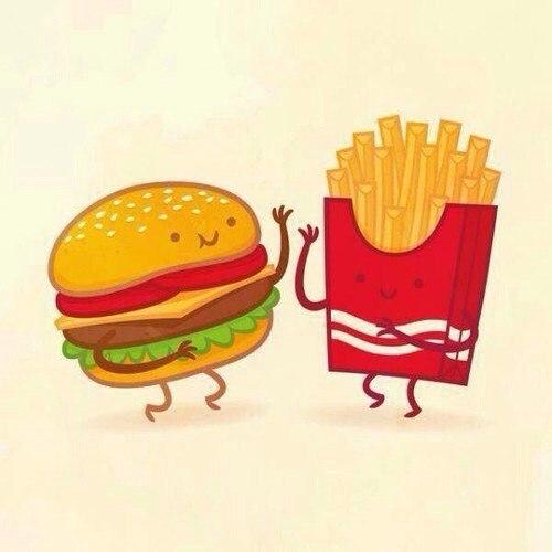 Прикольные картинки мультяшной еды